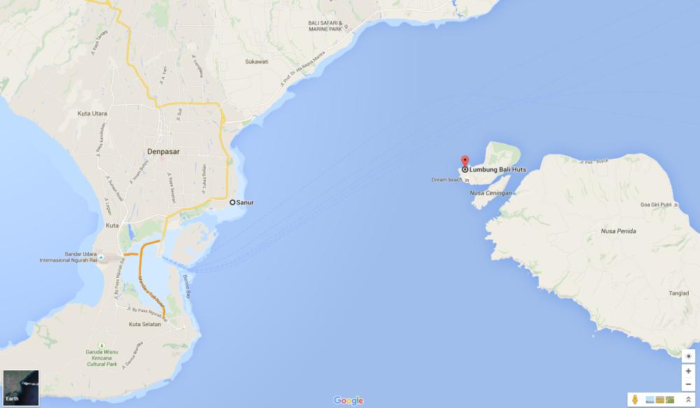 Google maps Nusa Lembogan